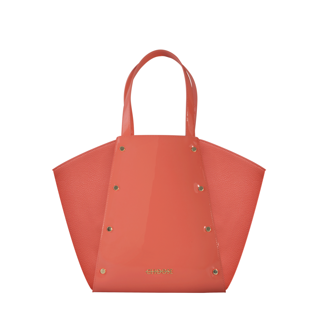 Mary + Jane – vernice coral + pelle coral