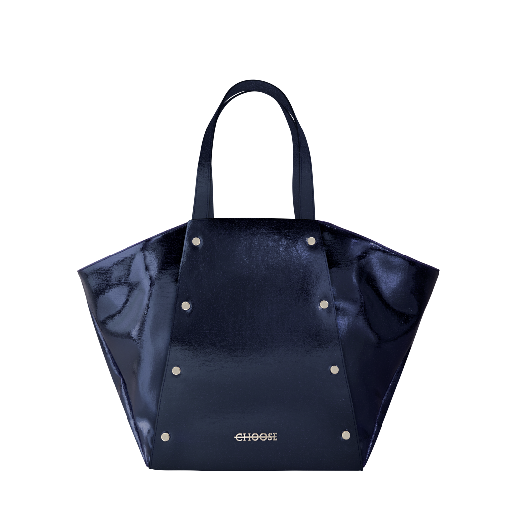 Mary + Jane – lamé cosmic blue metal + lamé cosmic blue metal